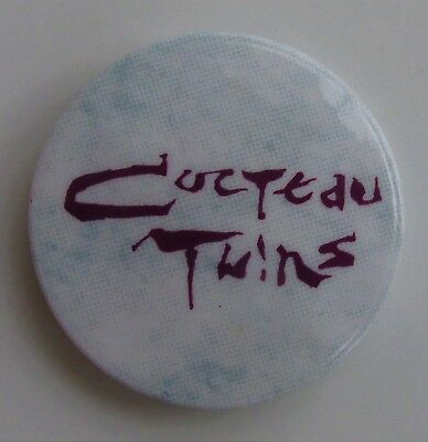 COCTEAU TWINS VINTAGE METAL BUTTON BADGE FROM THE 1980's INDIE POP 4AD