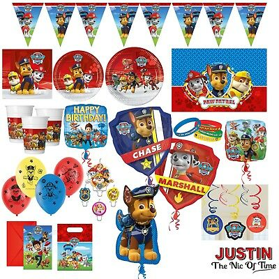 PAW PATROL Boys & Girls Birthday Party Tableware Supplies & Decorations Balloons