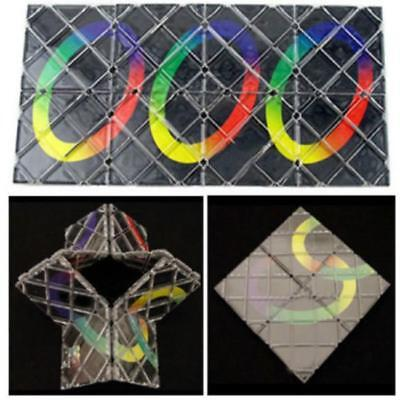 8 Panel 3 Ring Rubik Magic Folding Puzzle Toy Ghost Hand Z