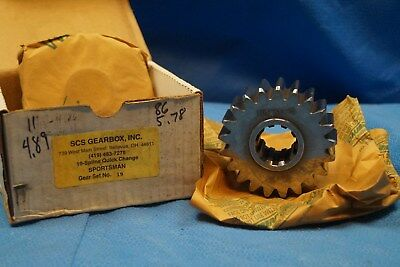 Scs Gearbox 10 Spline Sportsman Quick Change Gears Set 19   4.89-5.78