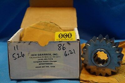 Scs Gearbox 10 Spline Sportsman Quick Change Gears Set 104K  5.26-6.21