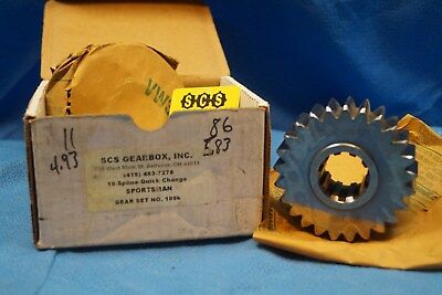 Scs Gearbox 10 Spline Sportsman Quick Change Gears Set 109K  4.93-5.83