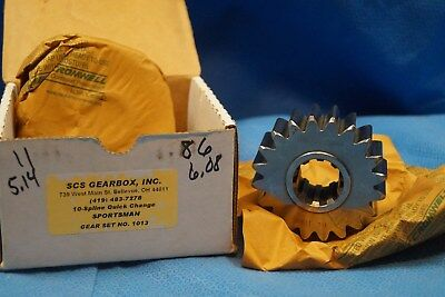 Scs Gearbox 10 Spline Sportsman Quick Change Gears Set 1013  5.14-6.08