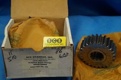 Scs Gearbox 10 Spline Sportsman Quick Change Gears Set 103  5.10-6.03