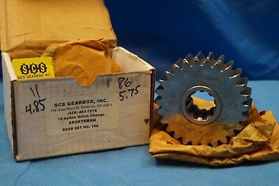Scs Gearbox 10 Spline Sportsman Quick Change Gears Set 108   4.85-5.75