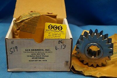 Scs Gearbox 10 Spline Sportsman Quick Change Gears Set 1018  5.19-6.13