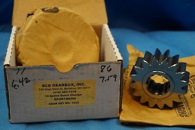 Scs Gearbox 10 Spline Sportsman Quick Change Gears Set 1043  6.42-7.59