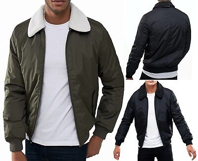 79262c5bb THREADBARE NEW MEN Laser Synthetic Suede Jacket Borg Lined Collar ...
