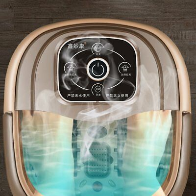 Portable Foot Spa Bath Massager Bubble Heat Infrared Relax F@