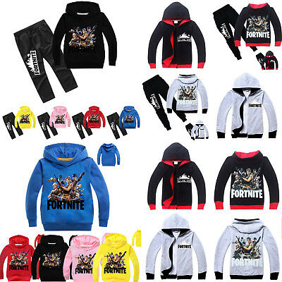 FORTNITE Kinder Jungen Kapuzenpullover Sweatjacke Hose Traininganzug Sports Set