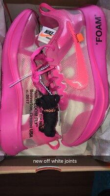 cfb418b26ac9 OFF-WHITE X NIKE Zoom Fly SP Tulip Pink Racer Pink Sz 10 the ten ...