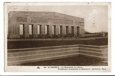 CPA - Carte postale -FRANCE-Saint Quentin - Monument aux Morts-1933-S3620
