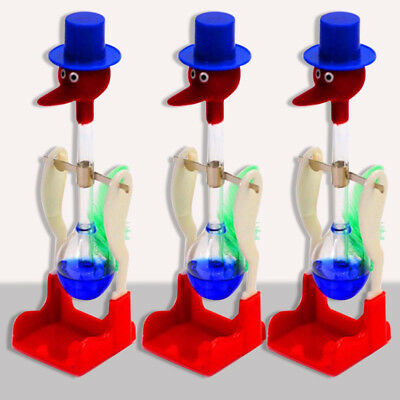 Novelty Happy Duck Drinking Lucky Bobbing Toy Water Bird Dippy Retro Glass