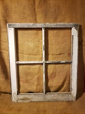 Old Vintage Antique Shabby Chic Window 4 Pane Farmhouse Wedding Frame Barn