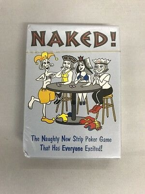 Naked Strip Poker Card Game Playing Cards Adult Birthday Party Deck New