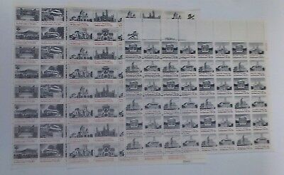 Lot of 3 Mint Sheets, All Architecture USA 15c #1838, 15c 1779-82 & 20c #2019-22