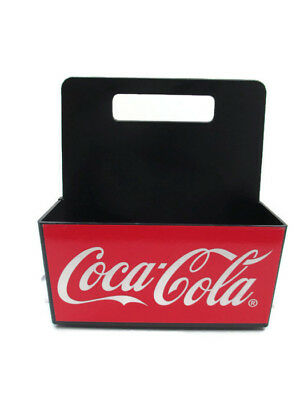 Coca-Cola Divided 2 Section Plastic Utensil Condiment Napkin Caddy  - BRAND NEW
