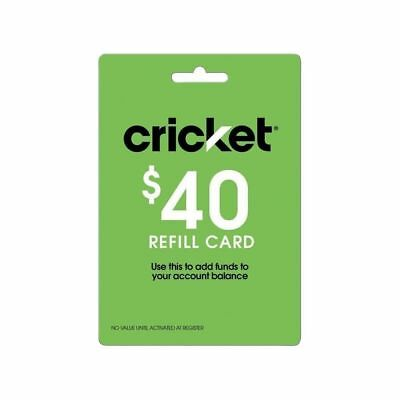 Cricket Wireless $40 Refill Card