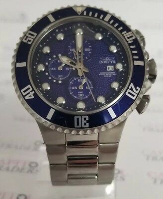 Invicta 18907 Pro Diver Men's 50mm Chronograph Blue Dial Stainless Steel Watch