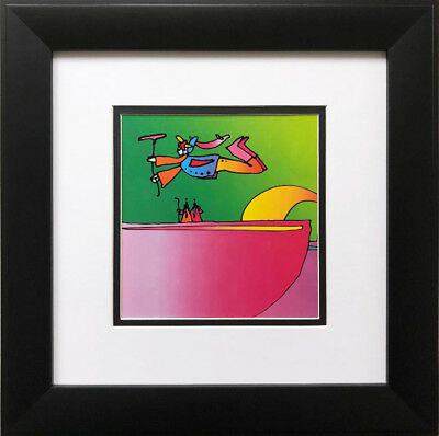 """Peter Max """"Flower Flyer and Two Sages"""" New FRAMED Art POP Psychedelic 1971"""