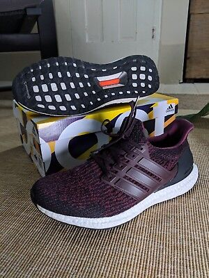 31532afcf8a7 Adidas Ultra Boost 3.0 Dark Burgundy Core Black Maroon S80732 Men s Size  9.5 Use