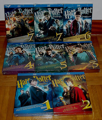 Harry Potter The Collection Complete 1-7 New 16 Blu-Ray+8 Book (Unopened) R2