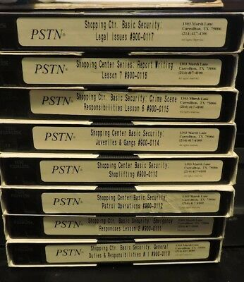 PSTN Shopping Center Basic Security Training Series #900 (8 VHS Tape Set)