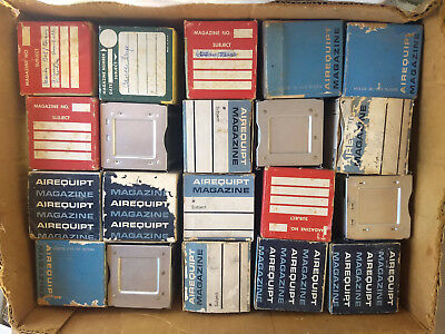 Lot of 20 Vintage Airequipt Straight Slide Projector Trays / Magazines