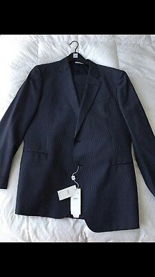 Brand New Armani Navy Blue Suit UNTAILORED 47L