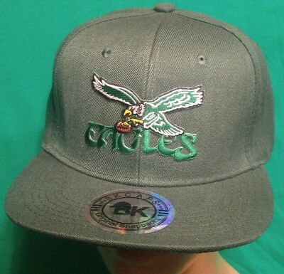 366f248843b5b Philadelphia Eagles Hat Throwback Eagles Logo Snapback Flat Bill Ball Cap   Hat