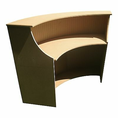 Medium salon reception desk, curved shop counter, reception desk, 90 degree desk