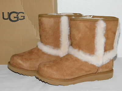 76a5ce1645c NIB UGG KIDS Isley Waterproof Suede & Sheepskin Boots in Chestnut ...