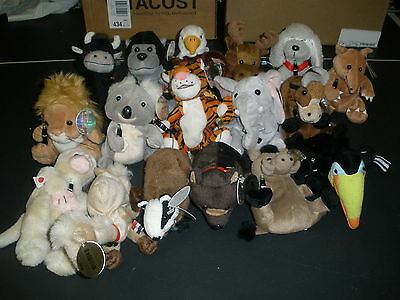 Lot Of 17 Coca Cola International Plush Collection Animals