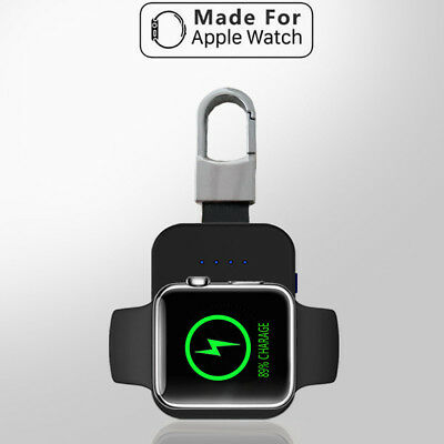 For Apple Watch Wireless Mini Power Bank Charger Dock Keychain 950mAh Portable
