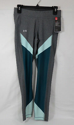 Under Armour Women's Heatgear Color Block Ankle Crop Gray  #1305967-Nwt