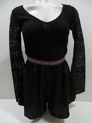 Ecote romper XS black bell sleeve boho festival playsuit Urban Outfitters
