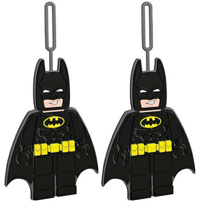 2x Lego Movie Batman Silicone Luggage/Suitcase ID Bag Name/Label Travel Tag BLK