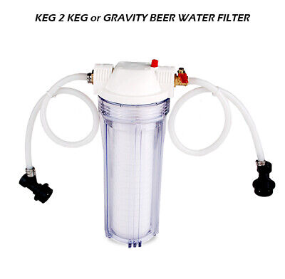 Keg to Keg or Gravity Water Beer Filter System 1 Micron Absolute Rate Home Brew