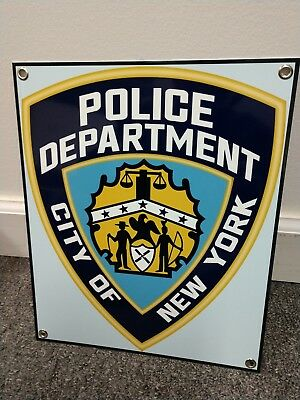 NYPD New York Police Department Sign