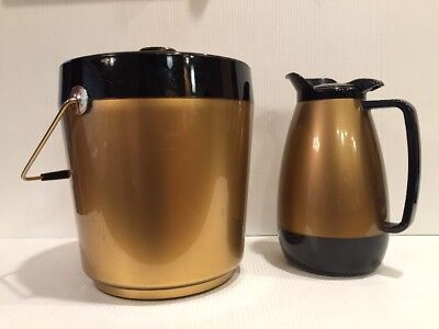 Thermo Serv  Vintage Pitcher & Ice Bucket  Great Shape!
