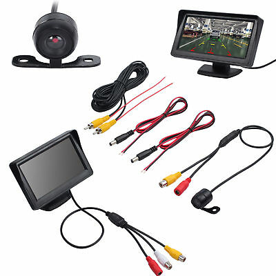 "Vehicle Rear View 4.3"" Monitor+ IR Backup Reversing Camera 170° Waterproof Set"