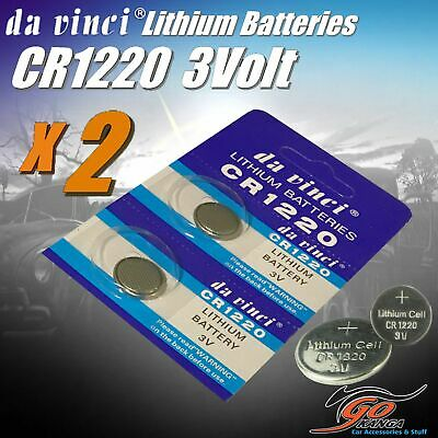 2 x CR1220 Lithium 3 volt Coin Batteries Local Australian Stock 3v 30mAh quality