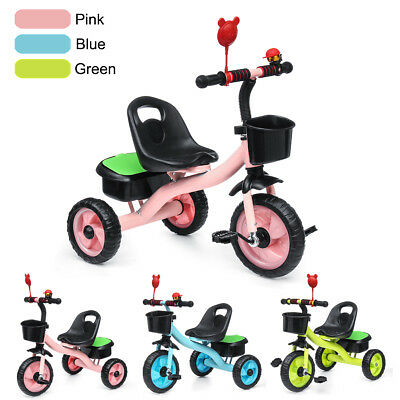 3 Wheel Bike Bicycle Tricycle Trike Basket Baby Kids Children Toddler Outdoor AU