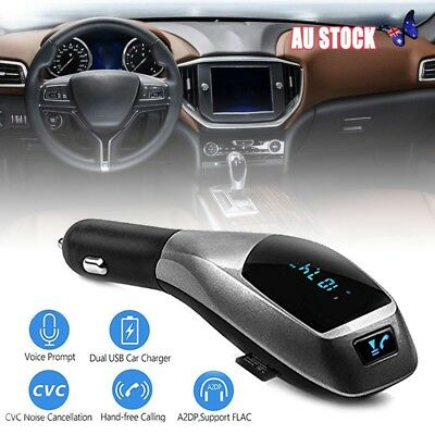Wireless Bluetooth Car MP3 Player FM Transmitter Radio LCD SD USB Charger Kit AU