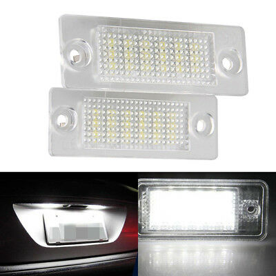 2LED Licence Number Plate Light Canbus fit VW Transporter T5 Golf Plus MK5 Caddy