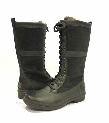 52b4f28150b UGG ELVIA WATERPROOF Tall Boots Slate Leather Lace Up -Us Size 8.5 -New