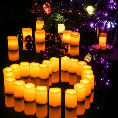 24 PCS Flameless Votive Candles Battery Operated Flickering LED Votive Candles