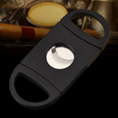 Cigar Cutter Stainless Steel Double Blades Guillotine Knife Pocket Scissors BID