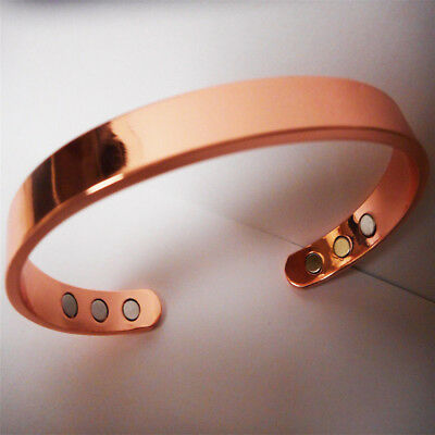 Magnetic Copper Bracelet Healing Therapy Arthritis Pain Relief Bangle Cuff CN58