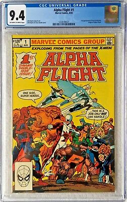 Cgc 9.4 Alpha Flight #1 .. Origin Of Alpha Flight .. 1St Puck & Marrina .. 1983